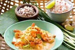 Scampi red curry
